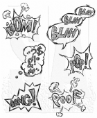 Stampers Anonymous/Tim Holtz - Cling Mount Stamp Set - Crazy Thoughts - CMS238